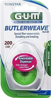 GUM Butlerweave Floss Mint Waxed 200 yd