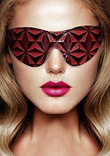 Ouch! door Shots - Luxe Vinyl Eye Mask met Elastische bandjes - Bordeaux