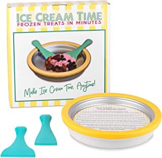 IceCream Maker - Frozen Treats in Minutes - Ice Cream Time Pan - Frozen Yogurt, Sorbet, Gelato - Family Fun, Healthy Alternative to Store bought Ice Cream