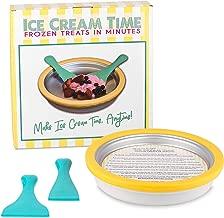 IceCream Maker - Frozen Treats in Minutes - Ice Cream Time Pan - Frozen Yogurt, Sorbet, Gelato - Family Fun, Healthy Alternative to Store bought Ice Cream