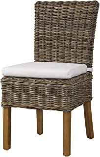 Padma's Plantataion Boca Chair, Kubu with White Cushion