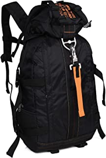 WolfWarriorX Lightweight Travel Backpack Flight Parachute Pack Large 100% Nylon Rucksacks Rain Hood Office Laptop Daypack for Men, Women (Black)