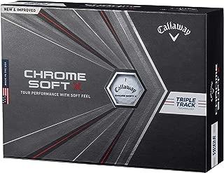 Callaway(キャロウェイ) ゴルフボール CHROME SOFT X 2020年モデル 1ダース12個入り ホワイト トリプルトラック