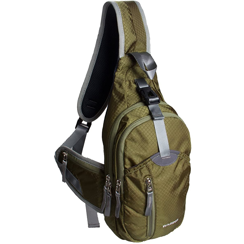 WASING Military Sport Pack Shoulder Sling Backpack Men Women Chest Gym Bag,Rover Sling Pack Chest Pack