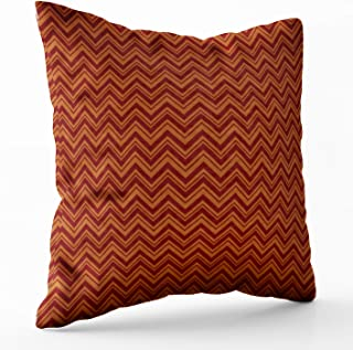 Shorping Zippered Pillow Covers Pillowcases 18X18 Inch burnt sienna chevron designer pillow Decorative Throw Pillow Cover,Pillow Cases Cushion Cover for Home Sofa Bedding