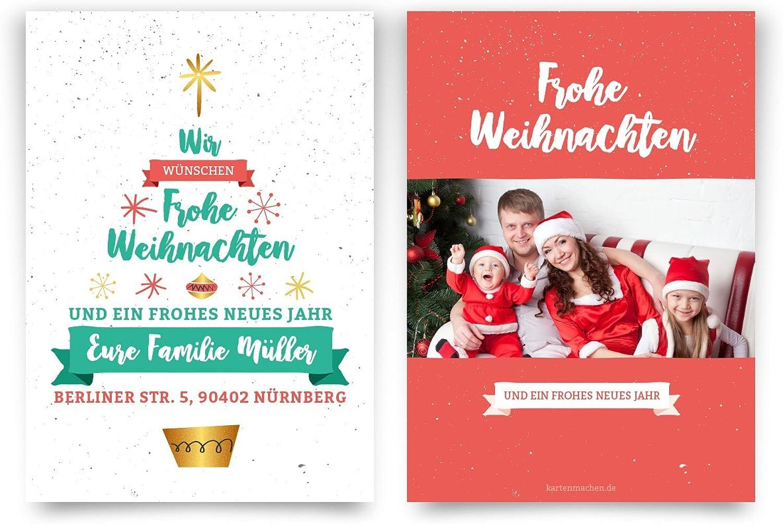 Weihnachtskarten (40 Stück) - Weihnachtsbaum - Grußkarten Weihnachtsgrußkarten B01LWQH7FU  | Vielfalt