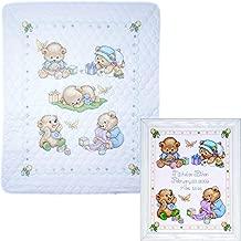 Tobin - Baby Bears Nursery Decor Cross Stitch - 2 Kits: Baby Bears Baby Quilt T21705 and Baby Bears Sampler T21711 with 2 Gift Cards