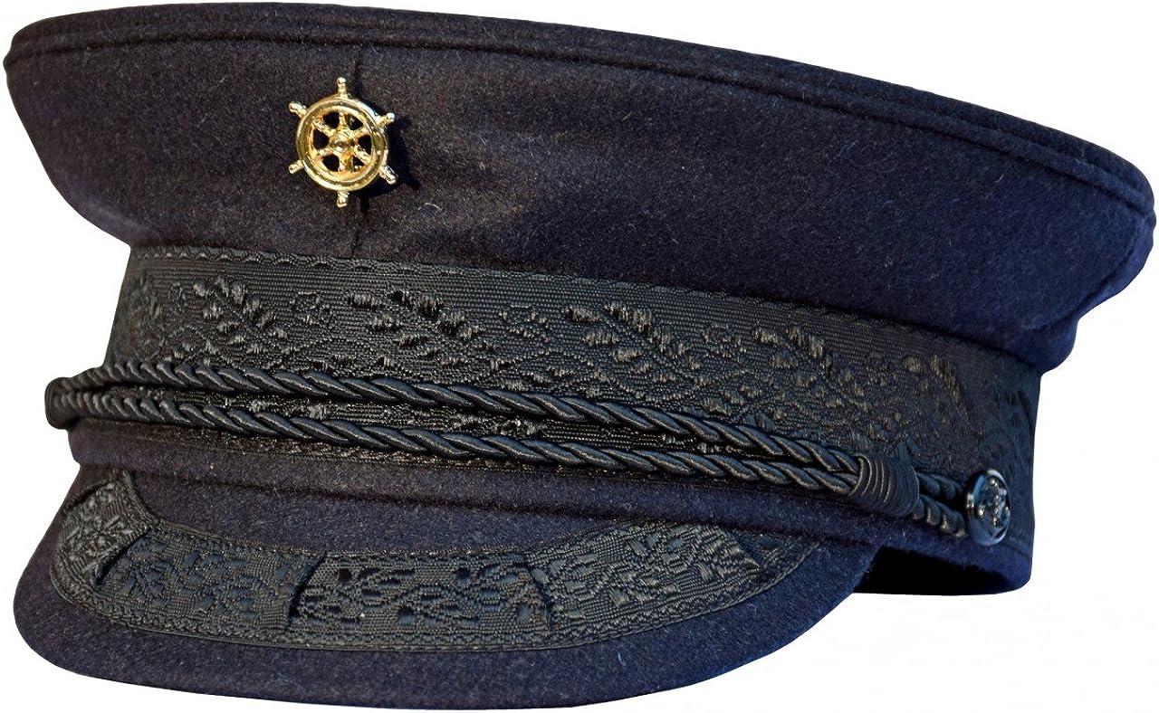 Marineblau modAS Original Prinz-Heinrich M/ütze mit vergoldeter Anstecknadel
