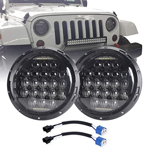 COWONE 7 Inch Round 2019 Newest Design 130w Philip LED Projector Headlight with DRL for Jeep