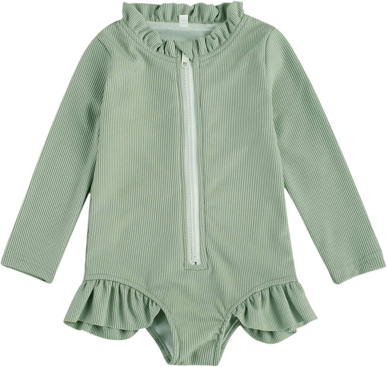 Jacksonville Mall Ultra-Cheap Deals Merqwadd Toddler Baby Girl Swimsuit Rash Sleeve One Long P Guard