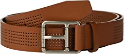 Perforated Leather Belt w/ Roller Buckle