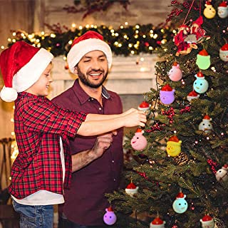Christmas String Lights, Santa Claus String Lights and Christmas Snowman String Lights 10 LED 6.5FT Each 2 Pack Colorful for Christmas Tree Christmas-String-Lights-Battery-Operated-Indoor Outdoor
