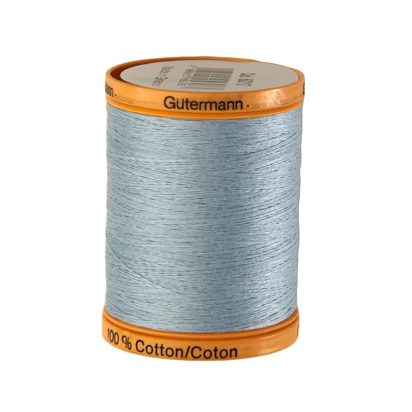 Gutermann Natural Cotton Thread, 800m/875 yd, Light Blue
