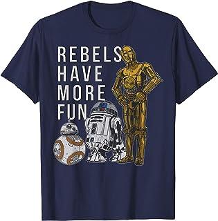 Star Wars Last Jedi Droids Rebels Have More Fun Gold T-Shirt T-Shirt