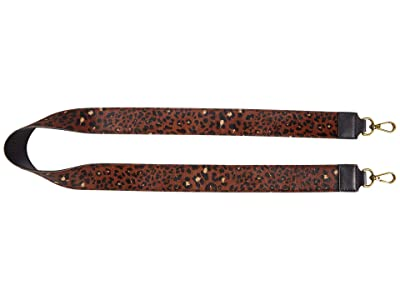 Madewell Wide Haircalf Crossbody Strap (Rich Brown Multi) Handbags