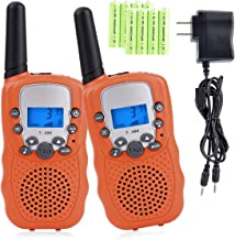 Funkprofi Walkie Talkies for Kids 22 Channels Long Range Rechargeable Walkie Talkies with Battery and Charger, Gift for Boys and Girls, 1 Pair (Orange)