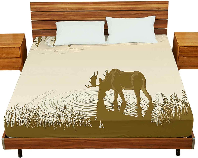 Bed 与え Sheet Set Twin-XL Size Elk ☆国内最安値に挑戦☆ Water. Night The Lan in Drinking