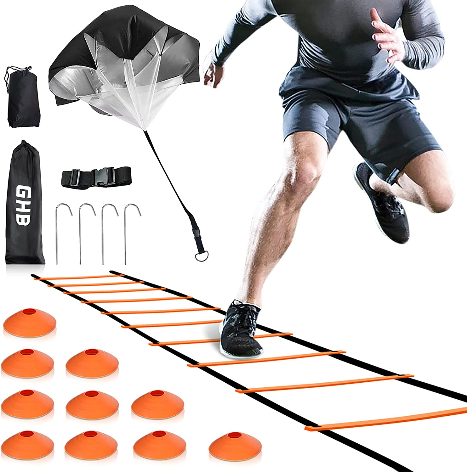 GHB Speed New item Manufacturer direct delivery Ladder Training Agility 10 Cones 12 with