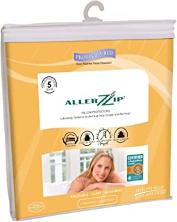 AllerZip Pillow Covers - Block Bed Bugs, Dust Mites, Allergens & Waterproof (2-Pack Queen)