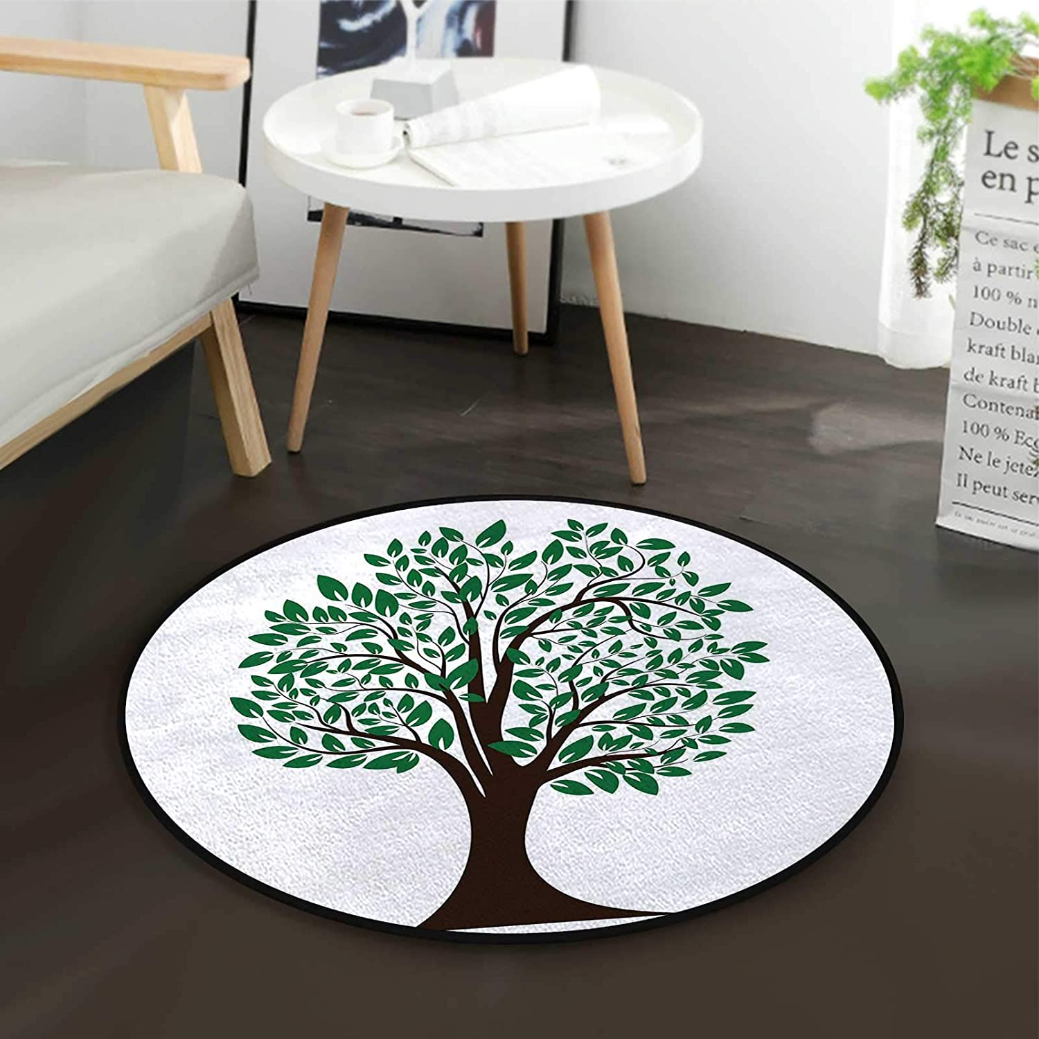 Simplistic Tree New product!! Leaves Art High quality new Office Home Swivel Mat Chair F