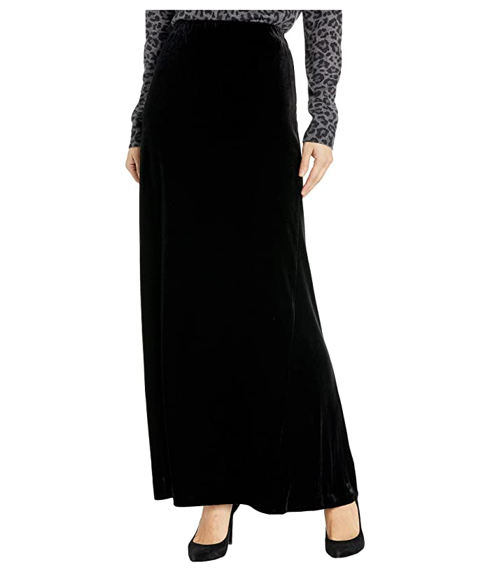 Victorian Skirts   Bustle, Walking, Edwardian Skirts Alex Evenings Long Velvet Skirt with Side Slit Black Womens Skirt $79.00 AT vintagedancer.com