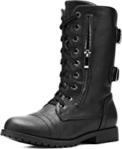 DREAM PAIRS Women's Lace up Mid Calf Boots