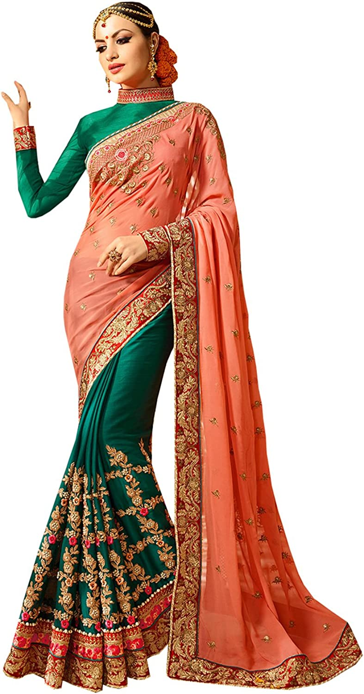 SAMAGRA CREATIONS Indian Women Designer Party wear Multicolor color Saree Sari SS2610