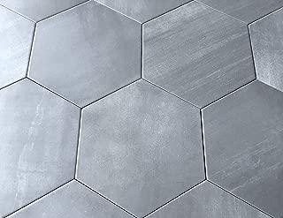 10.2 x11.4 Mama Mia Gray Hexagon Gris Porcelain Tile Floor (Box of 9)