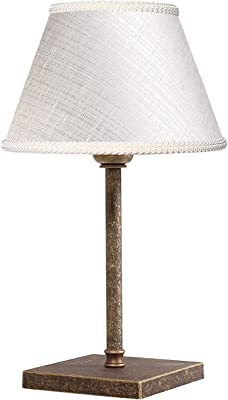 Premium lámpara de mesa de latón antiguo E27 hasta 60 W 230 V para ...