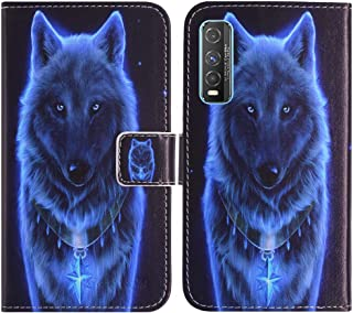 TienJueShi Wolf Fashion Stand TPU Silicone Book Stand Flip PU Leather Protector Phone Case For Vivo Y70t 6.53 inch Cover E...