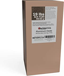 Aluminum Oxide #180-19 LBS - Very Fine Sand Blasting Abrasive Media for Blasting Cabinet or Blasting Guns.
