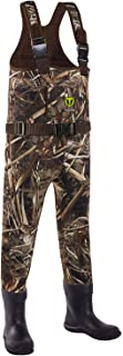TideWe Chest Wader for Toddler & Children, Neoprene Waterproof Insulated Hunting Wader for Boy and Girl, Cleated Bootfoot Wader, Hunting & Fishing Wader Realtree MAX5 Camo