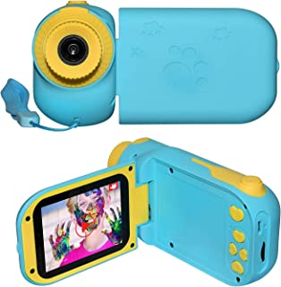 TechKen Video Camera Camcorder for Kids, Digital Camera Best Gifts for Kids of 1 - 8 Years Old | 1080 HD| Bonus 16G TF Card