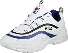 Fila Ray F Low Uomo sneakers in pelle bianca con rifiniture blue