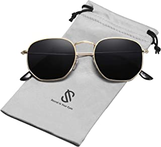 SOJOS Small Square Polarized Sunglasses for Men and Women...