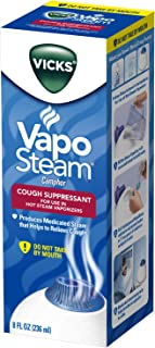 Vicks VapoSteam, 8 Ounce Medicated Vaporizing Liquid with Camphor to Help Relieve Coughing, for Use in Vicks Vaporizers and Humidifiers