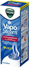 Vicks VapoSteam Medicated Liquid with Camphor, a Cough Suppressant, 8 Oz – VapoSteam Liquid Helps Relieve Coughing, for Us...