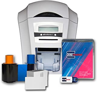 Magicard Enduro 3e Single-sided ID Card Printer & Supplies Bundle with Card Imaging Software (3633-3001)