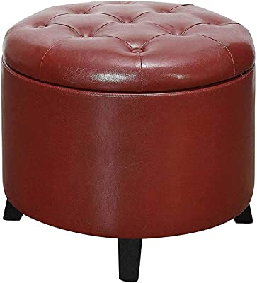 Cool Amazon Com Homepop Velvet Button Tufted Round Storage Theyellowbook Wood Chair Design Ideas Theyellowbookinfo