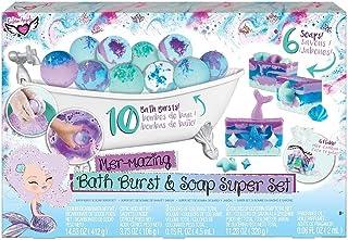 Crayola Creations Bath Burst & Soap Making Super Set, Bath Bomb, Gift, Tween Girls Aged 8, 9, 10, 11, 12