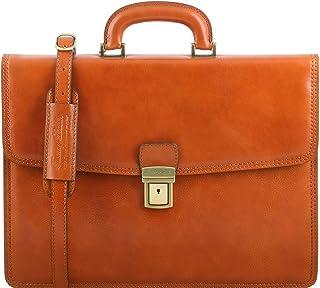Tuscany Leather TL141351 - Bolso al hombro de Piel para hombre Beige beige compact