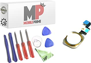 MobilePrime Gold Replacement Home Button Flex Cable Prime Repair Kit Compatible for iPhone 6 and iPhone 6 Plus Including Repair Tools