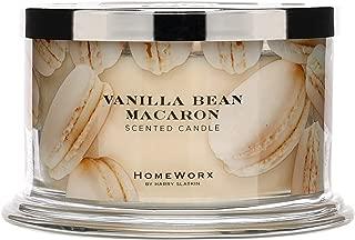 HomeWorx by Harry Slatkin 4 Wick Candle, 18 oz, Vanilla Bean Macaron - HMXC18-AZ-VBM