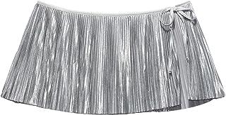 Savage X Fenty, Women's, Pleated Lamé Skirt with Tie