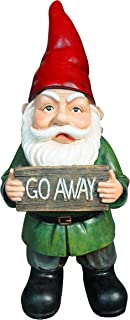 Harmony Fountains Garden Gnome with Go Away Sign -14