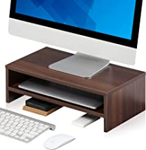 FITUEYES Wooden Monitor Riser Computer Laptop Stand with Storage Shelf, Space Saving Desk for Home Office Use, 42.5x23.5x1...