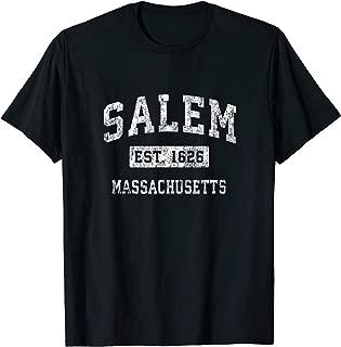 Salem Massachusetts MA Vintage Established Sports Design T-Shirt