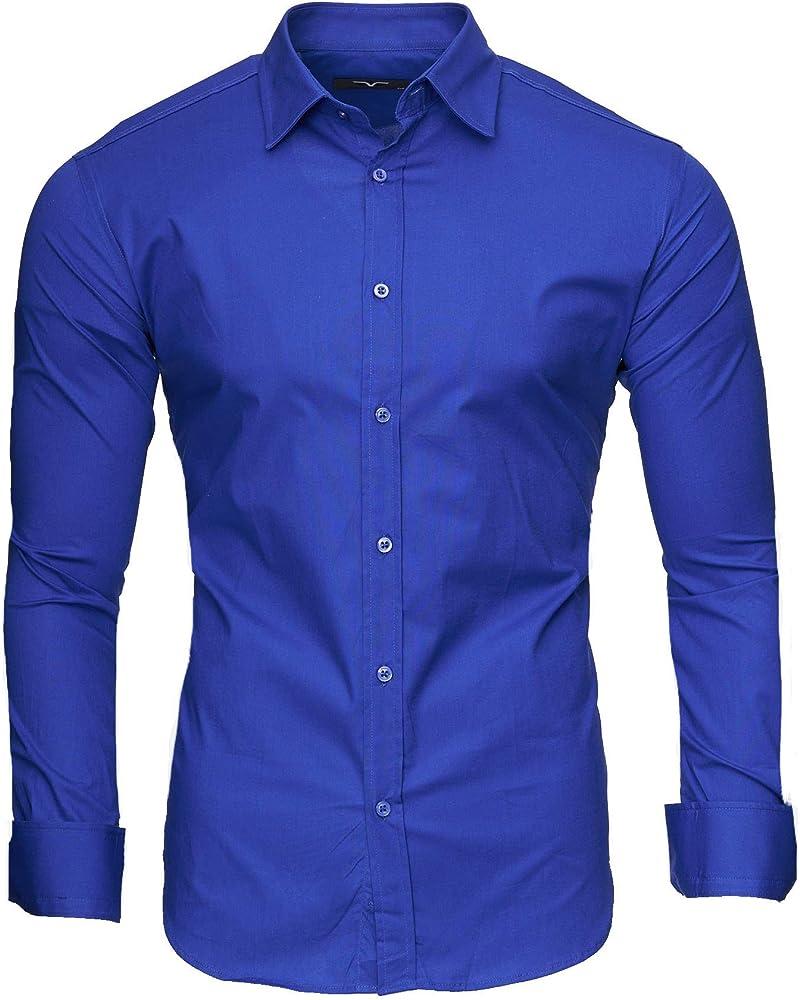 Kayhan, originale camicia per uomo, maniche lunghe, 97% cotone, 3% elastan A-TwoFace-0000135B