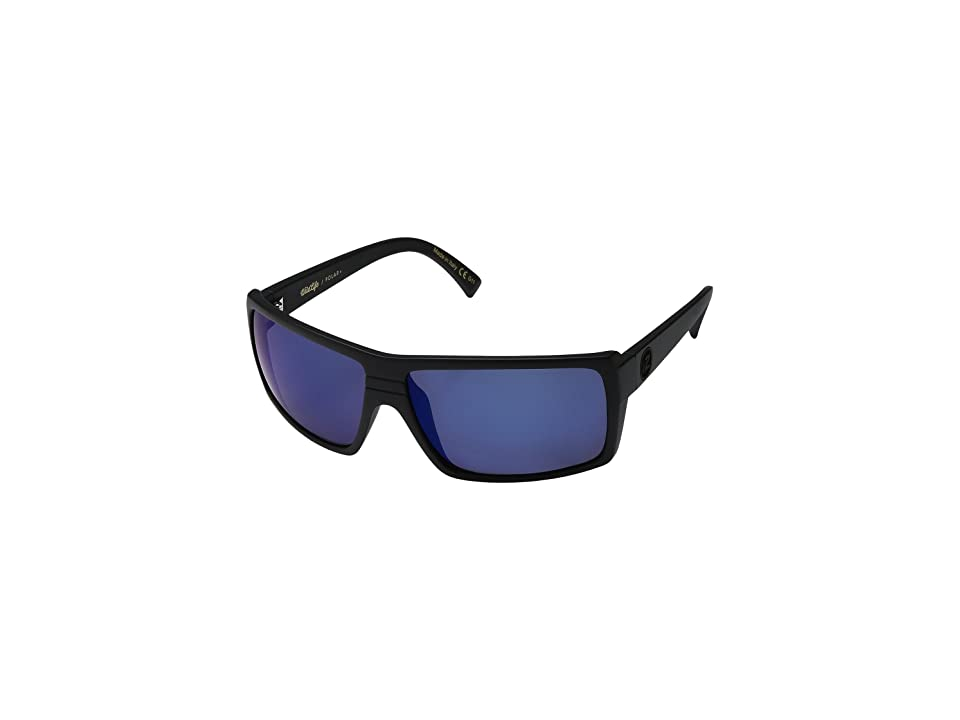 VonZipper Snark Polar (Black Satin/Wild Blue Flash Polar Plus) Sport Sunglasses