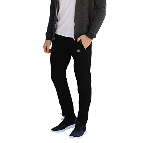 51f21bd5fcb72 SCR SPORTSWEAR Men s Soccer Track Training Pants Athletic Sweatpants with  Zipper Pockets Black Heather Grey Short